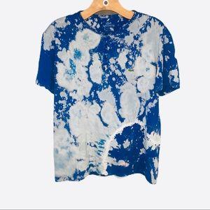 Lacoste Tie Dye Henley Tee Short Sleeve T-shirt